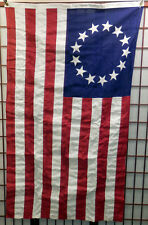 VTG New/Old Stock Boxed 3x5 Betsy Ross 13 Star Cotton Bicentennial Flag Annin Co