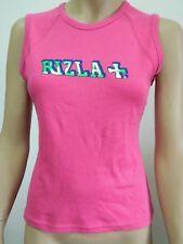T-SHIRT CANOTTA RIZLA+ DA DONNA TAGLIA M 100% COTONE COLORE ROSA CS203