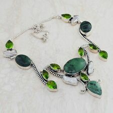 Ruby Zoisite Peridot Ethnic Jewelry Handmade Necklace 61 Gms An 8492