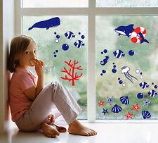 DIY Wall Sticker Fishes Princess Decal Kid Nursery Baby Room Decor Bathroom