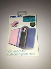 Philips Soft Sleeve Case for Kindle Fire Nook or HTC Flyer Pink & Blue NEW