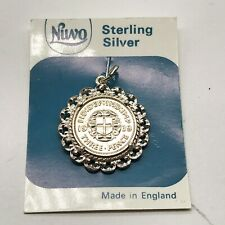 VINTAGE SOLID STERLING SILVER NUVO 1939 THREEPENCE COIN BRACELET CHARM PENDANT