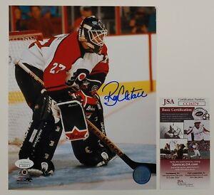 Ron Hextall Autographed Philadelphia Flyers 8x10 Photo JSA Goalie 2