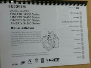 FUJIFILM S4500 S4400 S4200  PRINTED INSTRUCTION MANUAL USER GUIDE 147 PAGES A4