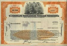 Royal Dutch Petroleum Company Oil Stock Certificate Shell Gas Orange