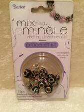 Darice Mix and Mingle Metal Lined European Beads & Bracelet Kit Birthday Theme