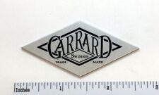 Garrard Swindon Badge Logo for Turntable Base Plinth - Custom Made Aluminum