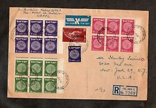 Israel Scott #39-41 Coins Booklet Panes on Commercial Cover to the US!!