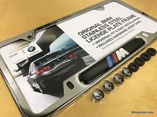 Genuine BMW Stainless Steel Chrome M License Plate Frame E30 E36 E46 E90 M3 CSL