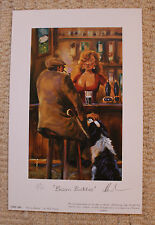 "MICK CAWSTON LIMITED EDITION SIGNED PRINT  ""BOSOM BUDDIES"""