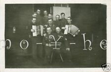 Original-Photo WK 2 soldati con musica 28.03.1943 Werndorf 9x6 cm
