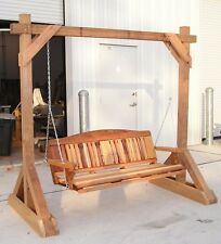 Woodworking Plans -Free Standing Porch Swing Stand