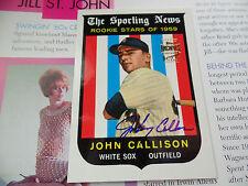 John Callison autographed auto 1961 RC Team Topps Fan Favorites Archives signed