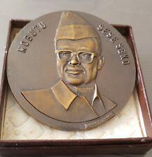 Zaire Congo Médaille Civile dans sa boite 60 eme anniversaire  Mobutu Sese Seko
