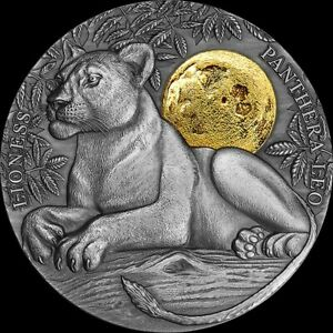 Niue -2021 - Wildlife in the Moonlight Collection - Lioness - Silver Coin
