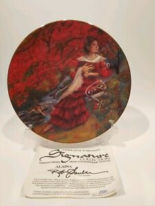"Signature Collection Plate "" Alaina"" By Artist Rob Sauber"