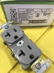 Lot Of 9 LEVITON M5362-GYS Gray 20A 125V Duplex Receptacle NEW!