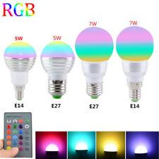 RGB LED Lamp 5W/7W E27 16Color Light Change Light Bulb with RemoteControl FR