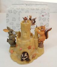 Charming Tails BUILDING OUR DREAMS TOGETHER Sandcastle Figurine wMini 89/191 NIB