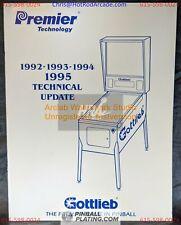 Gottlieb 1992-1995 Tech Update - Premier -Pinball Manual