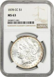 1878-CC $1 NGC MS63 - Popular First-Year Carson City Morgan