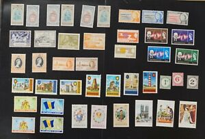 Barbados collection of F/VF mint hinged stamps 2020 cv$38.00 (k070)