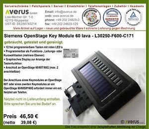 Unify Siemens OpenStage 60 Key Module Lava / für T / HFA / G / SIP / Rg. MwSt.