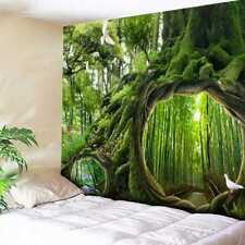 Green Tree Forest Tapestry Wall Tapestry Home Bedspread Throw Decoration