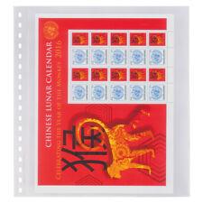 10 Lindner 853P Housses Transparentes Pochettes de billets 1x 240x290mm+ Noir
