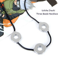 Anime NARUTO Uchiha Itachi pendant metal 3 moveable loops Necklace cosplay gift