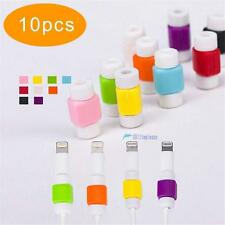 10pcs Lightning USB Charger Cable Saver Protector For Apple iPhone 4 5 6 Plus KJ