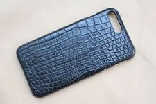 Black Genuine Crocodile Leather Skin Phone Case Cover For Iphone 7 Plus / 8 Plus