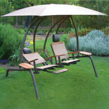 Sunset Swings 422SB Two-Person Lounge Chair - Patio Garden Porch Outdoor Hammock
