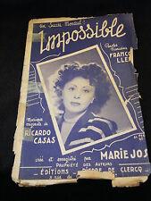 Partitura Impossible Marie José Music Sheet Ricardo Casas