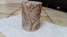 Photophore, Vase  en Verre revêtement paillettes- MM - D 9cm -H 14 cm