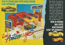 X2489 LAV'AUTOMAGIC - Hot Wheels - Mattel - Pubblicità 1989 - Advertising