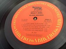 Billy Joel Glass Houses LP 1980 1st Press Columbia FC 36384 Picture Inner Sleeve