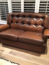 Moran Leather Couch / sofa X 2 Plus 1 Chair - BARCELONA
