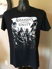 ASSASSINS CREED UNITY official t-shirt mens small black short sleeve 100% cotton