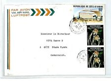 CM283 IVORY COAST Cover 1978 Missionary Air Mail MIVA Austria FLOWERS CIDEX