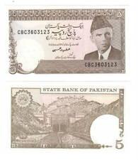 PAKISTAN 5 Rupees Banknote (1983) ND P-38 UNC Paper Money