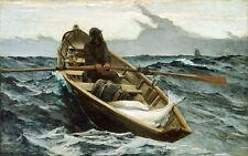 The Fog Warning - Winslow Homer High Quality Canvas Art Print A3