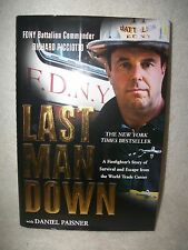 Richard Picciotto Fire Department New York Last Man Down Autographed Book