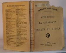 1920 DE MUSSET LA CONFESSION D'UN ENFANT DU SIECLE