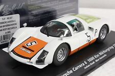 FLY A1601 PORSCHE CARRERA 6 NURBURGRING 1966 NEW 1/32 SLOT CAR IN DISPLAY CASE