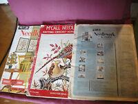 Lot of 3 Vintage McCalls Needlework & Crafts Magazines 1946/7, 1959/60, 1962