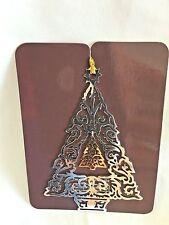 "AVON 3.5"" Metal GALARY ORIGINALS Silver/Goldtone Tree Ornament Figurine"