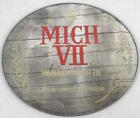 "Michelob 7 oz. Mich VII Small Bottle Beer Mirror Sign Round 12"" Vintage RARE"