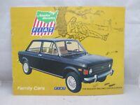 1974 Fiat Family Cars Sale Brochure 124 Special 124 & 128 Station Wagon & Sedans