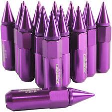 20PCS Purple 60MM M12X1.5 Cap Spiked Extended Tuner Aluminum Wheel Rim Lug Nuts
